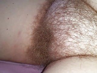i found the 8'' strand of pubic hair on her hairy pussy