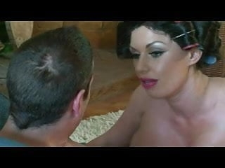 British tattoed slut gets fucked in a posh house