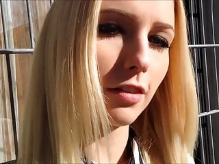 Stunning German blonde teen takes it up the ass