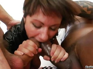 Nasty Girl Have 2 Dicks In Her Asshole Mouth and Big Pussy